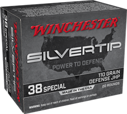 Winchester 110 gr. Silvertip Hollow Point - W38ST