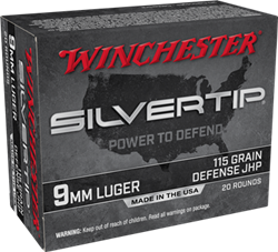 Winchester 115 gr. Silvertip Hollow Point - W9MMST