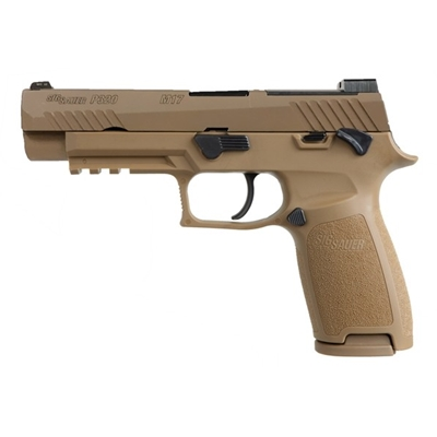 "Sig Sauer P320F M17 MANUAL SAFETY 9MM 4.7"" 17RD COYOTE - 320F-9-M17-MS"