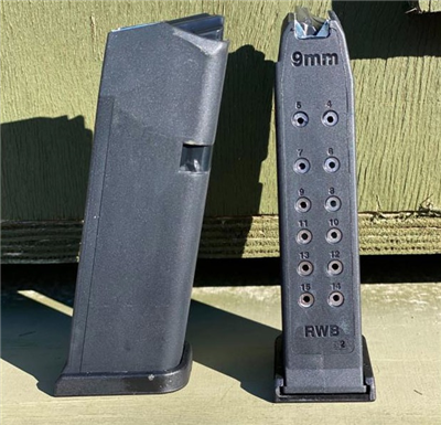 GLOCK 9MM 15 RD MAGAZINE FOR GLOCK 19'S - RWB-G19MAG